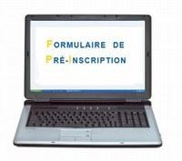 FORMULAIRE DE PREINSCRIPTION RENTREE 2020